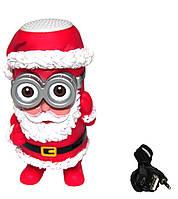 Портативная Bluetooth колонка Миньон FQ-18 Дед Мороз (Санта Клаус) красный