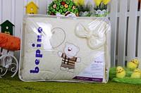 """Постельный набор в детскую кроватку """"Bepino"""" вышивка Мишка и шарик"""