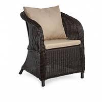 Кресло плетеное из искусственного ротанга Донна (Donna) коричневое 63x57x82 см