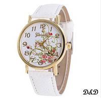 """Часы женские """"Цветы"""" белые"""
