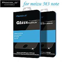 Защитное стекло Mocolo 0.33mm 2.5d для Meizu M3 Note. Узкое, прозрачное.