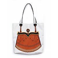 Набор для изготовления сумки с вышивкой 8501. ЯНТАРЬ