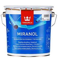"""Краска для внутренних и наружных работ """"Миранол"""". Ударопрочная алкидная краска глянцевая Миранол. MIRANOL 2,7л"""