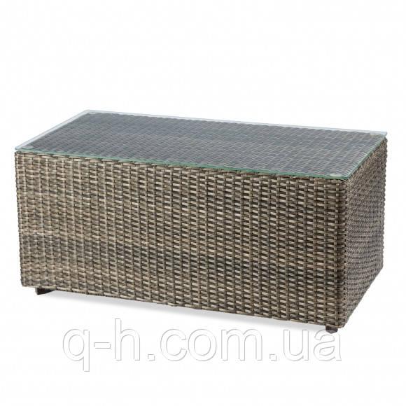 Столик журнальный плетеный из ротанга искусственного Kombo прямоугольный коричневый