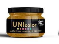 Эмаль для декора «UniDecor» 100гр. Красное золото