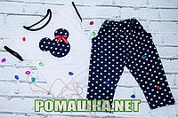 Детский летний костюм р. 110-116 для девочки тонкий ткань КУЛИР 100% хлопок ТМ Ромашка 3565 Синий 116