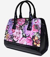 Сумка женская классическая каркасная Цветы Fashion  17-1426-13