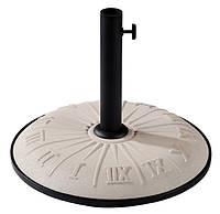 """Подставка для садового зонта TE-G1-15 белая """"часы"""" (Time Eco TM)"""