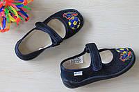 Тапочки для мальчика в садик текстильная обувь Виталия Украина размеры 28-31,5