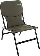 Компактное раскладное кресло для дачи, габариты 87х83х47 см, металл/полиэстер, 5кг, нагрузка до 200 кг