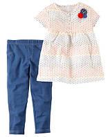 Летний костюм для девочки Carters, размер 12М, 18М, 24М