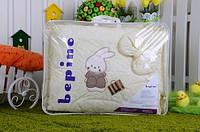 """Постельный набор в детскую кроватку """"Bepino"""" вышивка Зайчик и сумочка"""