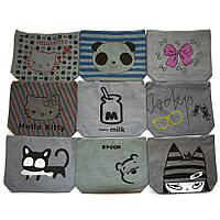 Текстильная женская сумка 9998 grey