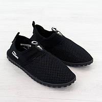 Кроссовки из текстиля черного цвета