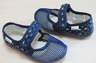 Тапочки в садик для мальчика текстильная обувь тм Виталия Украина размеры 21, фото 2