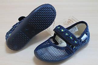 Тапочки в садик для мальчика текстильная обувь тм Виталия Украина размеры 21, фото 3