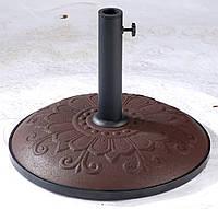"""Подставка для садового зонта TE-H1-15 коричневая """"узоры"""" (Time Eco TM)"""