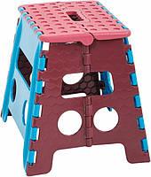 Складывающийся стульчик ММ Пласт средний, 32х28,5х22 см, пластик, ручка для переноски, нагрузка до 90 кг