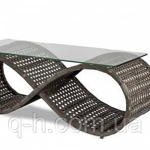 Стол кофейный плетеный из искусственного ротанга Viano коричневый, фото 2