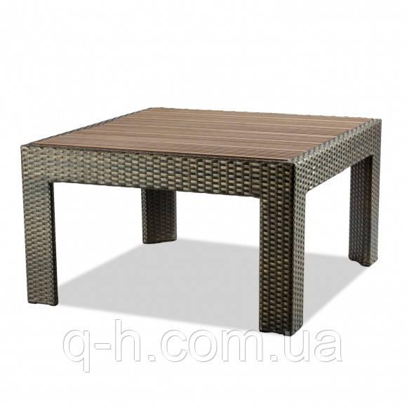 Кофейный столик плетеный из искусственного ротанга accent 90х90х50 см