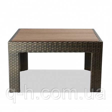 Кофейный столик плетеный из искусственного ротанга accent 90х90х50 см, фото 2