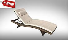Шезлонг пляжний плетений  Prato   200х65х33см з матрасом