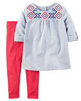 Летний костюм для девочки Carters, размер 18М