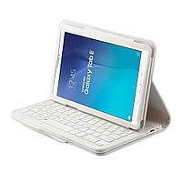 Чехол клавиатура Bluetooth для планшета Samsung Galaxy Tab E 9.6 T560 белый