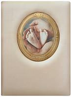 Папка для  свидетельства о рождении (кожа)