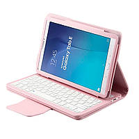 Чехол клавиатура Bluetooth для планшета Samsung Galaxy Tab E 9.6 T560 розовый