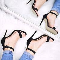 Босоножки женские Love черные, летняя обувь
