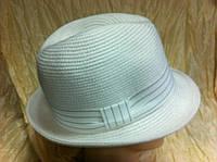 Шляпа летняя мужская с лентой и завернутыми сзади полями