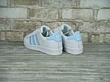 Кроссовки женские Adidas Superstar 30118 белые, фото 3