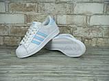 Кроссовки женские Adidas Superstar 30118 белые, фото 4