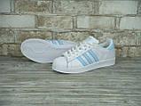 Кроссовки женские Adidas Superstar 30118 белые, фото 5