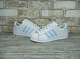 Кроссовки женские Adidas Superstar 30118 белые, фото 6
