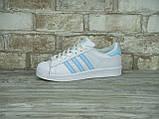 Кроссовки женские Adidas Superstar 30118 белые, фото 7