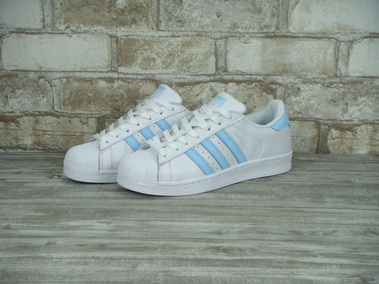 Кроссовки женские Adidas Superstar 30118 белые