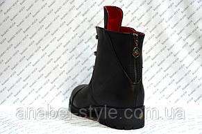 Ботинки женские стильные эко кожа черные Код 273, фото 2