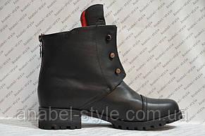 Ботинки женские стильные эко кожа черные Код 273, фото 3