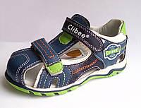 Босоножки, сандалии кожаные для мальчика р.25-30 ТM Clibee (Румыния)
