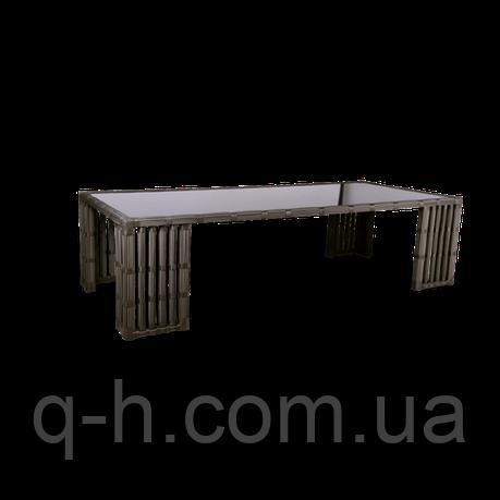 Стол обеденный плетеный из ротанга искусственного Kailash коричневый, фото 2