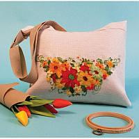 Набор для изготовления сумки с вышивкой 8514. ЛЕТО