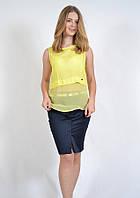 Легка летняя майка-блузка из натурального хлопка 5509 MEES Турция, фото 1