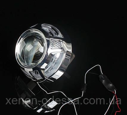 """Маска для ксеноновых линз 3.0"""" со светодиодами CREE : Porsche Macan LED CREE DRL, фото 2"""