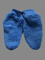 Пинетки рваная махра голубые ПРМГ-01