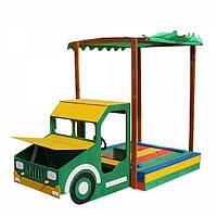 Детская песочница Машина Грузовик с накрытием Sportbaby
