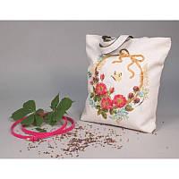 Набор для изготовления сумки с вышивкой 8520. ЦВЕТОЧНЫЙ ВЕНОК