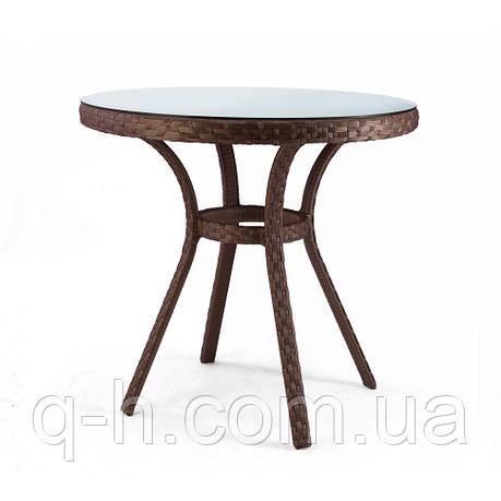 Плетеный круглый столик Bluz из искусственного ротанга, фото 2