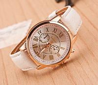 Часы женские Geneva Charm бежевые ( молочные )